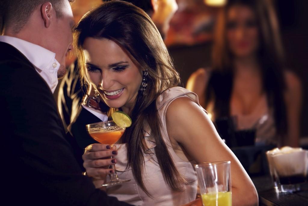 flirting in bar
