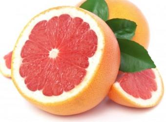 grapefruit white background