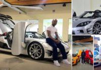 Pasaulē bagātākais bokseris atrāda savu jauno 4.3 miljonus eiro vērto auto un citus superauto