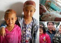 Divi mazi bērni savam tēvam ziedo BURTISKI daļu no sevis; Pasaule ir aizkustināta
