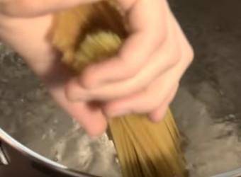 recepte, spagetti