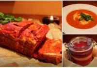 Trīs receptes Latvijas svētku galdam: tomātu zupa, biešu maize, pannakota