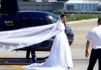 Līgava kāzās vēlājās visus pārsteigt ierodoties ar helikopteru; Tā bija viņas lielākā kļūda…