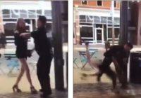 Policists publiskā vietā izrēķinās ar 22 gadus vecu meiteni par viņa aizskaršanu! (+VIDEO)