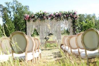 kāzu telpu dekorācijas