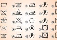 Uz apģērba etiķetēm esošo simbolu atšifrējums