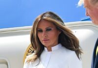 Šis Melānijas Trampas tērps ieies Pasaules vēsturē
